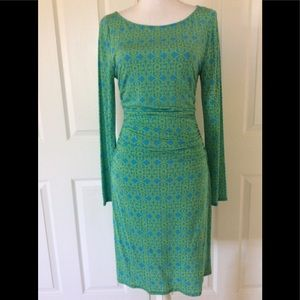 Tracy Reese NY Moroccan print waist crunch dress M